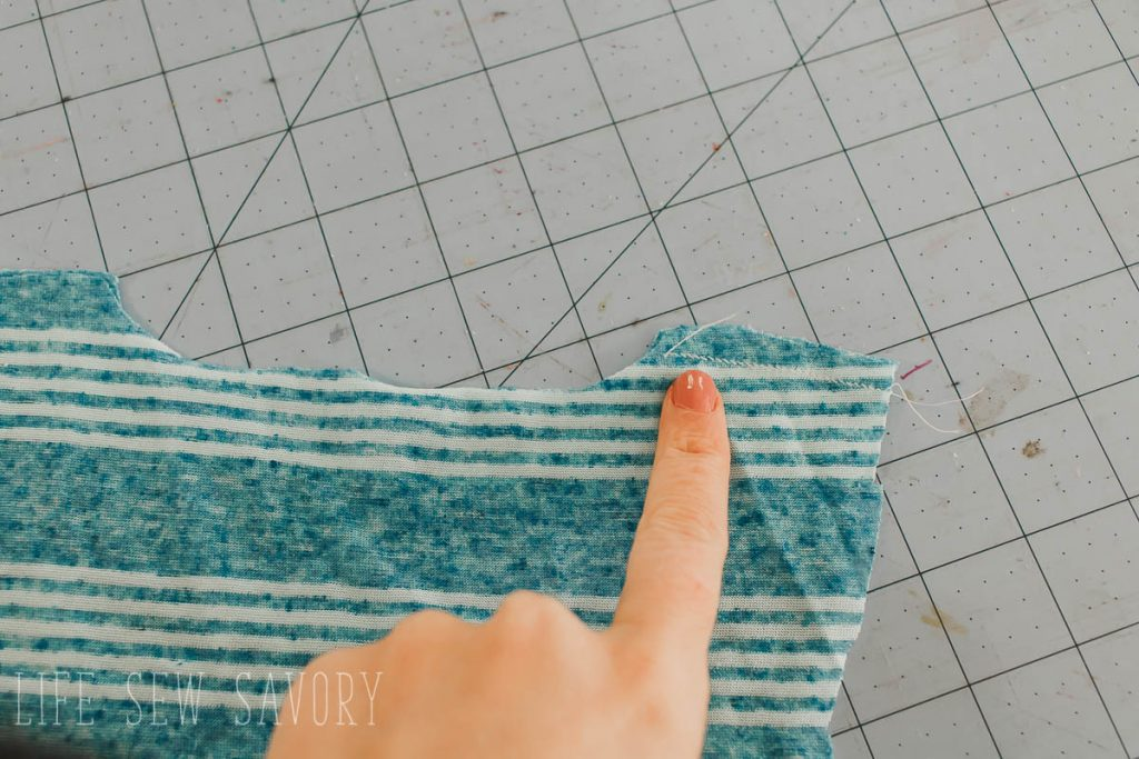 sew a single shoulder seam