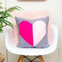 Heart Block Pillow Pattern Quilt Tutorial