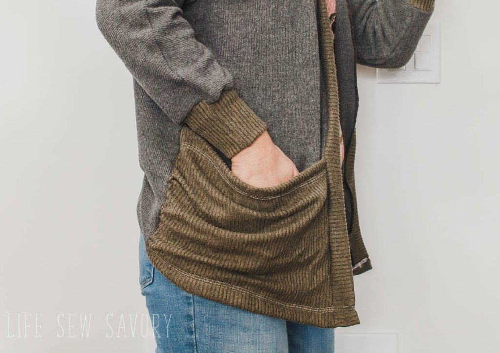Cardigan with pockets tutorial and pattern hack