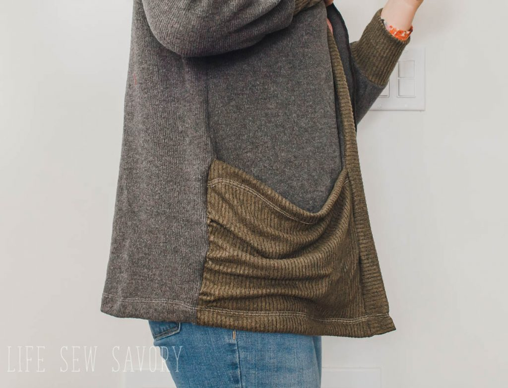 cardigan with pockets video tutorial and sewing hack