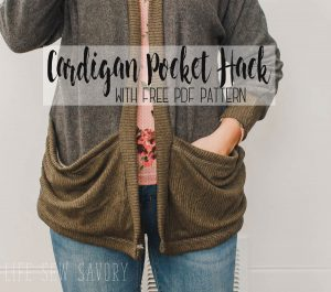 oversized pocket sewing hack from Life Sew Savory