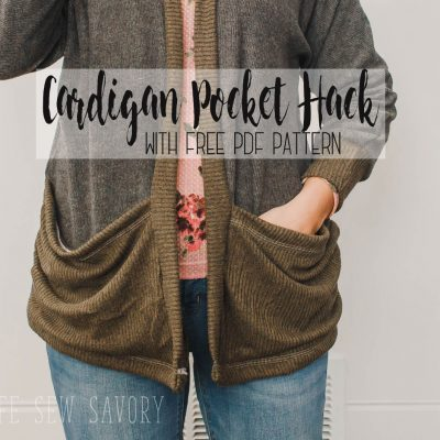 Cardigan with Pockets – Sewing hack video