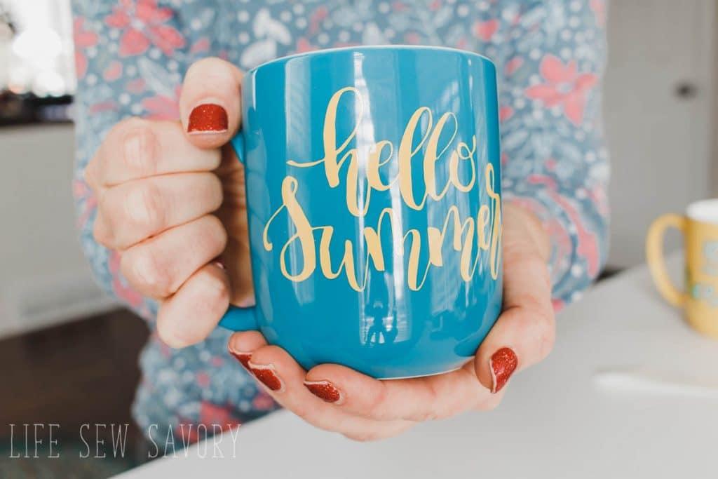 summer vinyl mug with free cut file
