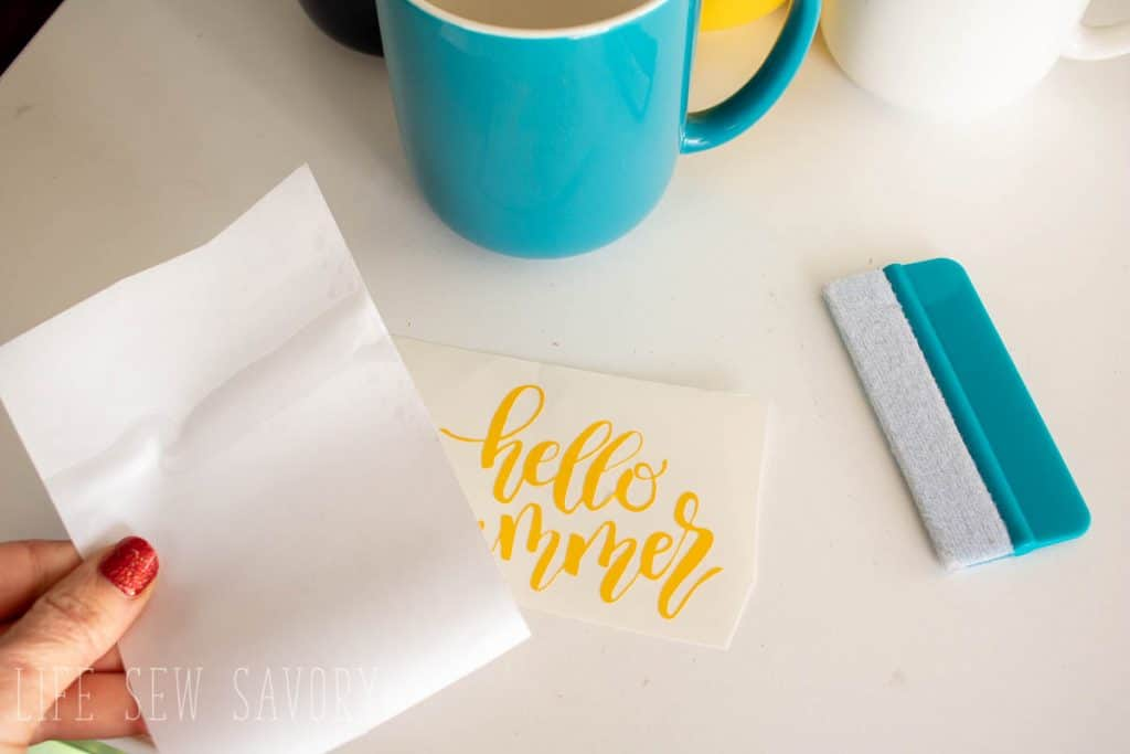 Use transfer paper to lift design