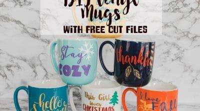 seasonal diy mugs with vinyl
