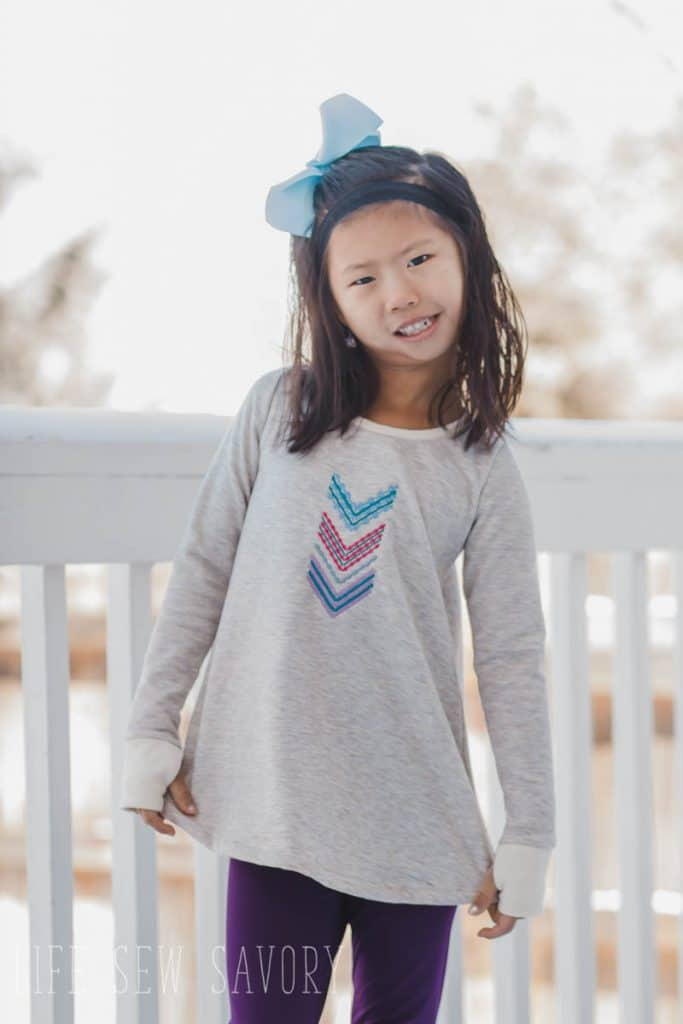 long sleeve swing tee free sewing pattern