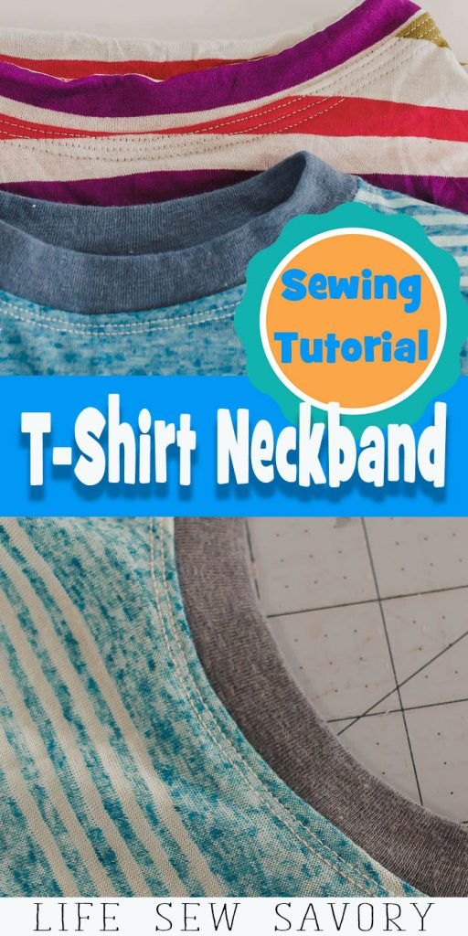T-Shirt Neck Binding Sewing Tutorial from Life Sew Savory