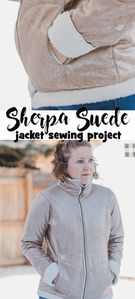 how to sew a sherpa suede jacket pattern and fabric details