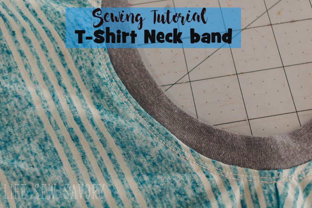 t-shirt neck binding sewing tutorial