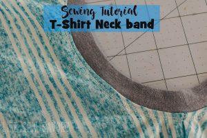 t-shirt neck binding sewing tutorial