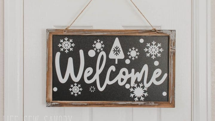 Vinyl Winter Welcome Sign