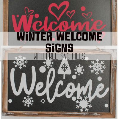 Scan N Cut Vinyl Project – Winter Welcome Sign