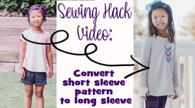 how to change a short sleeve sewing pattern to a long sleeve one