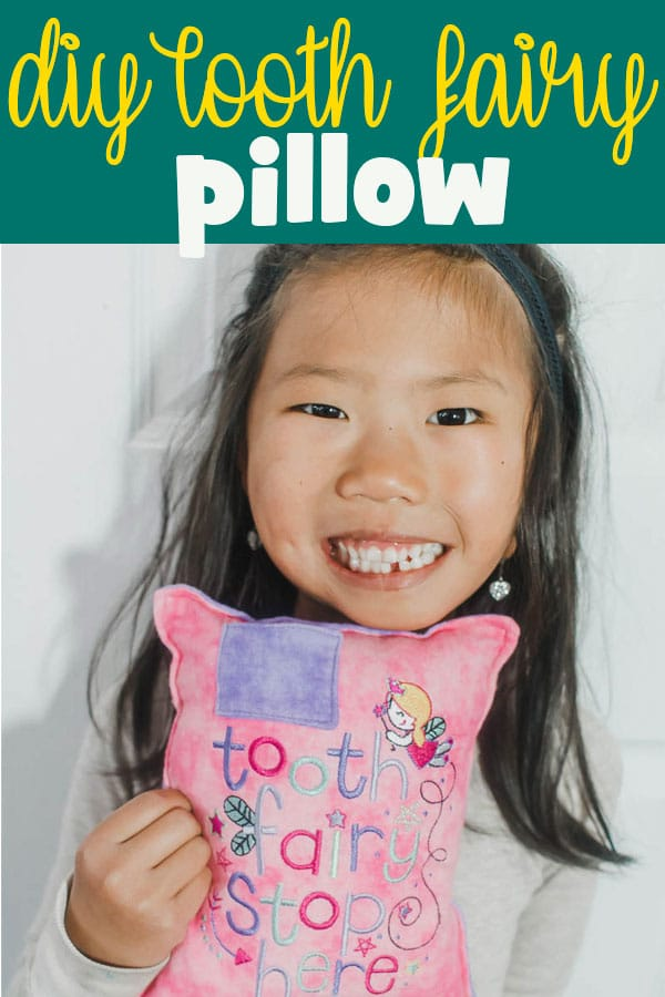 tooth fairy pillow pattern DIY with embroidered pillow for tooth fairy from Life Sew Savory Sew a tooth pillow to collect money from the tooth fairy. via @lifesewsavory