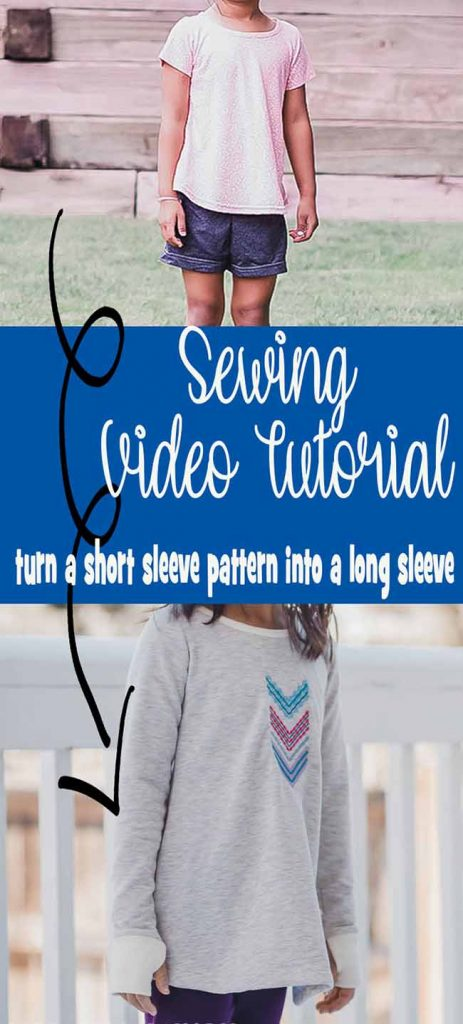 Sewing hack tutorial and video to turn a short sleeve sewing pattern into a long sleeve pattern. Simple drafting and design from Life Sew Savory