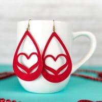 Valentine's Day Suede Earrings DIY