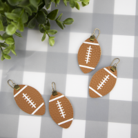 Leather Football Earrings with a Free Cut File