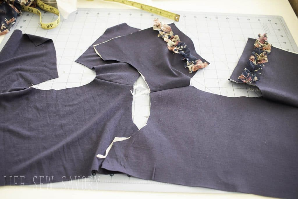 sew the shoulder seams