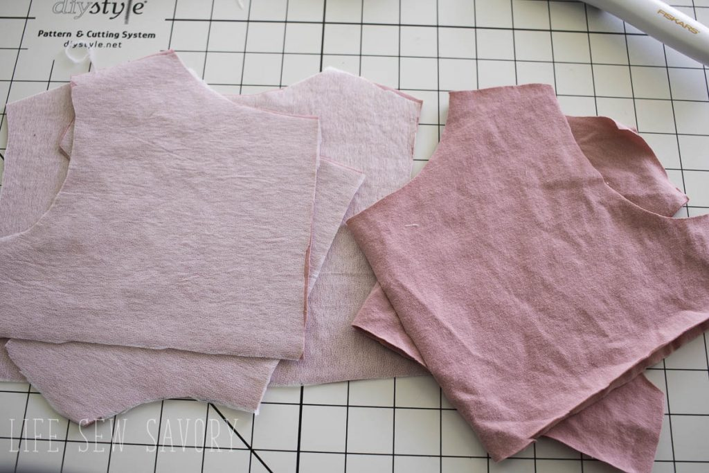 sew a lined bodice cut two sets