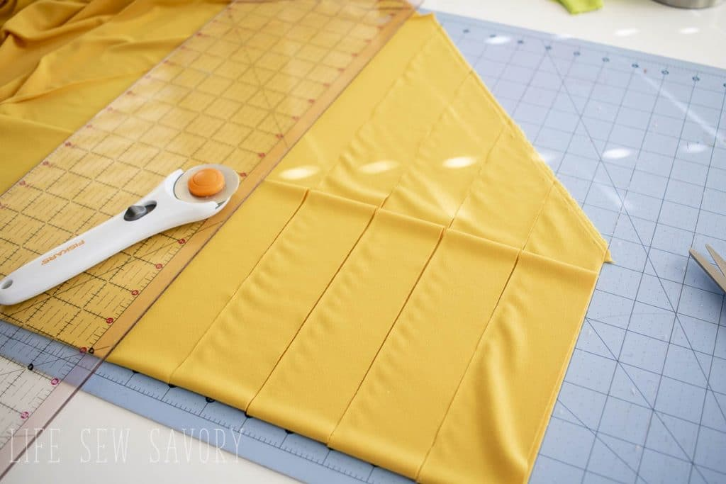 create striped fabric