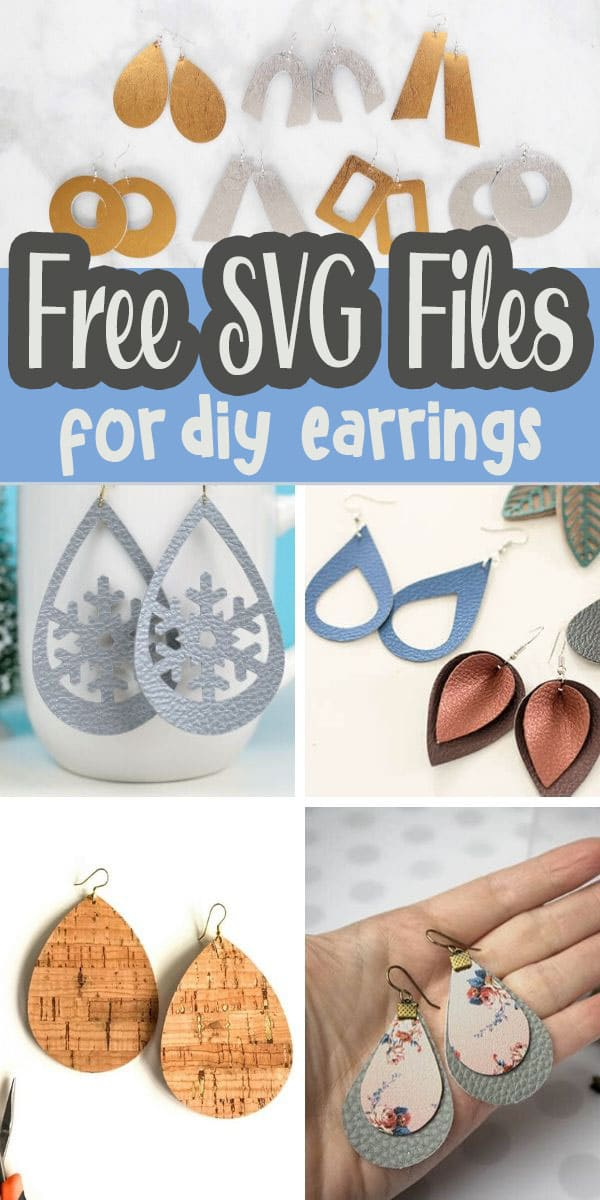 check out this huge list of free earring svg cut files as well as get all the details for making faux leather earrings {or real leather earrings} via @lifesewsavory