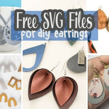 Faux leather earring template free, faux leather earrings, leather earrings svg free, free earring svg, earring svg free,