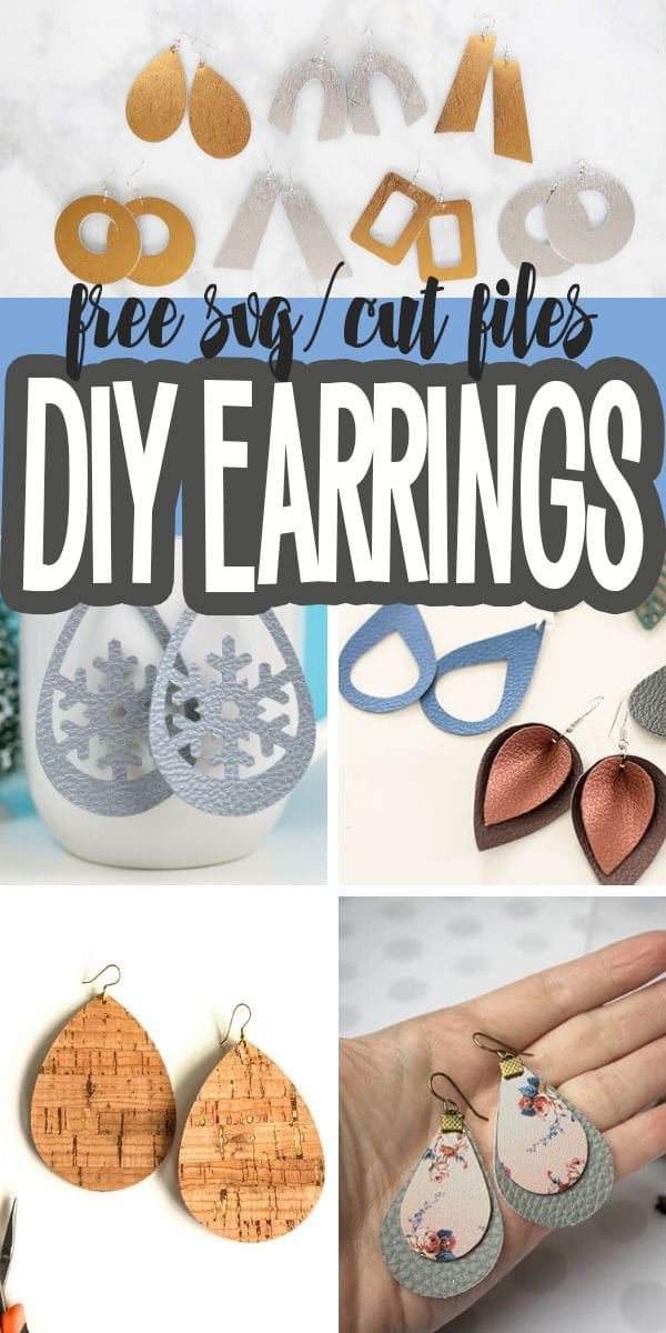 Free Earring SVG cut files for DIY earrings from Life Sew Savory via @lifesewsavory