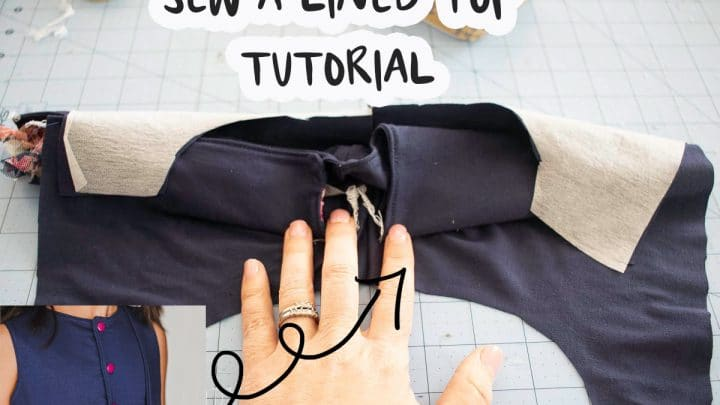 sew a lined bodice tutorial