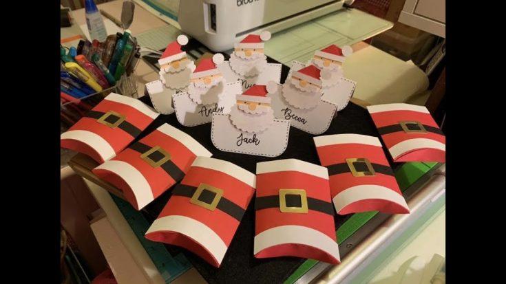 brother scan n cut tutorials Bonus Christmas project Santa Placecards