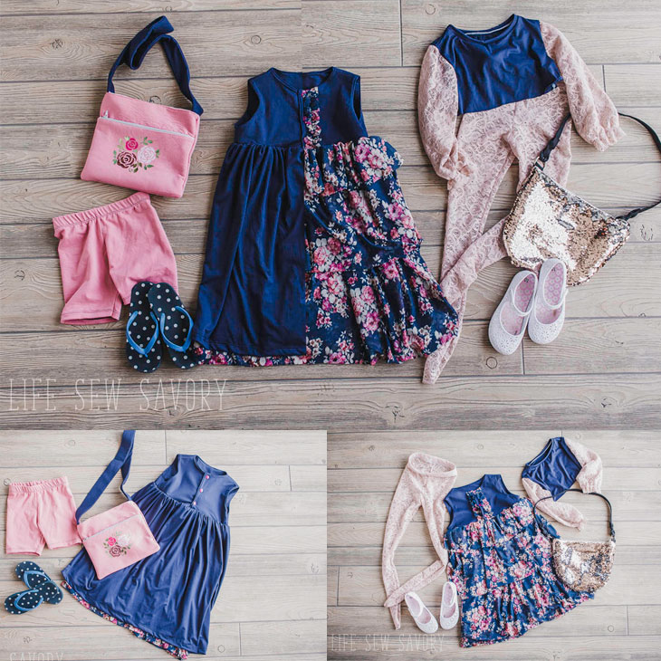 reversible dress flatlay