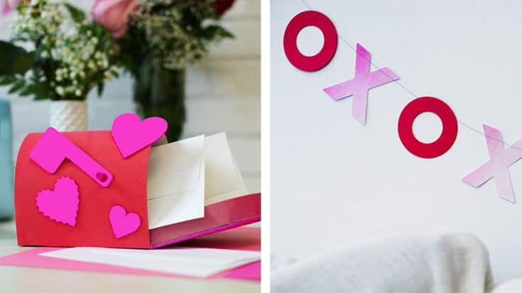 Valentine's Day Crafts: Mailbox Project and XOXO Banner - The Cutting Corner