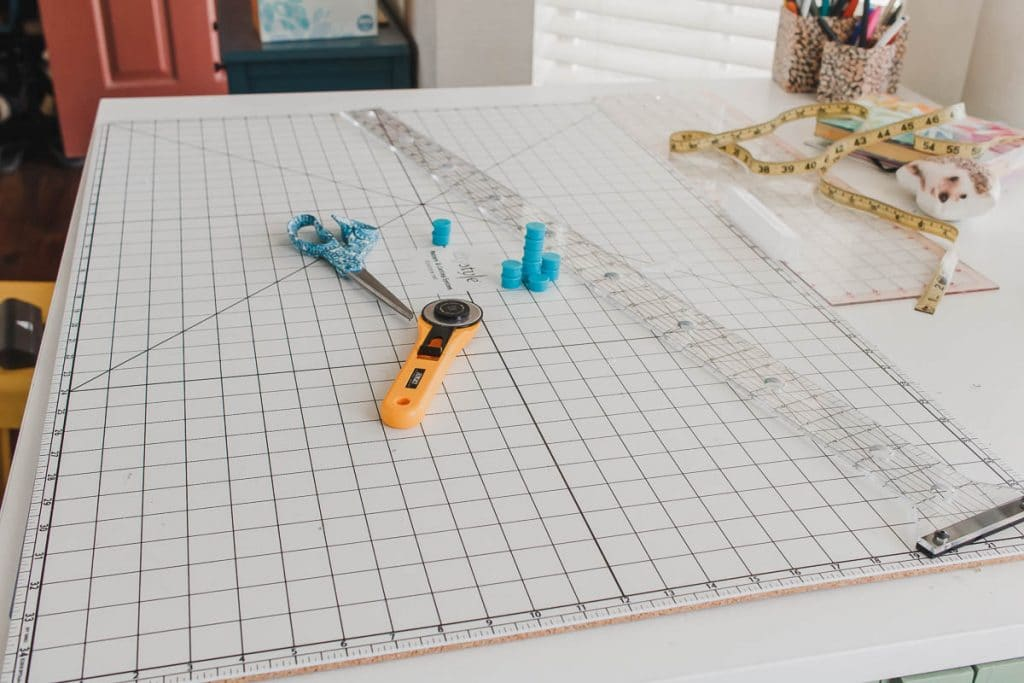white cutting mat