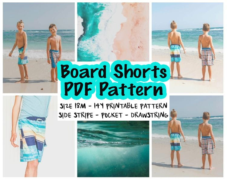board shorts sewing pattern main image