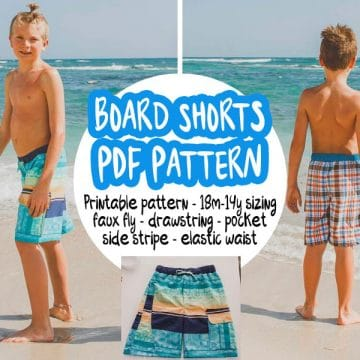 Boys Board shorts pattern