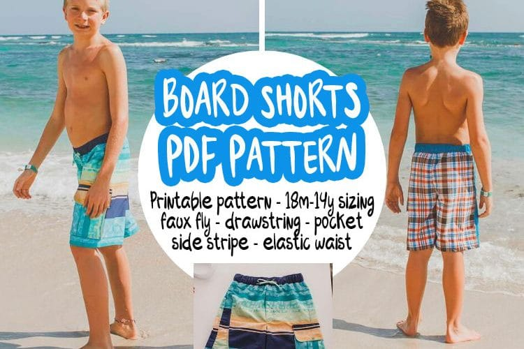 Boys Board shorts pattern