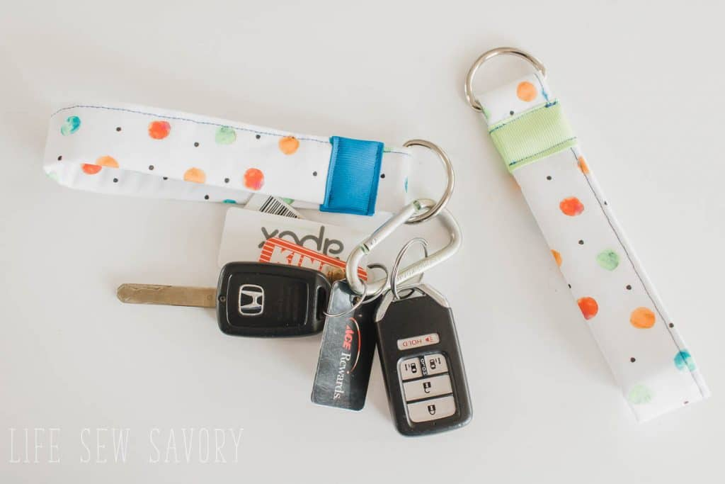 sewing project for beginners - key fob