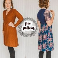 womens sewing pattern wrap dress free sewing pattern