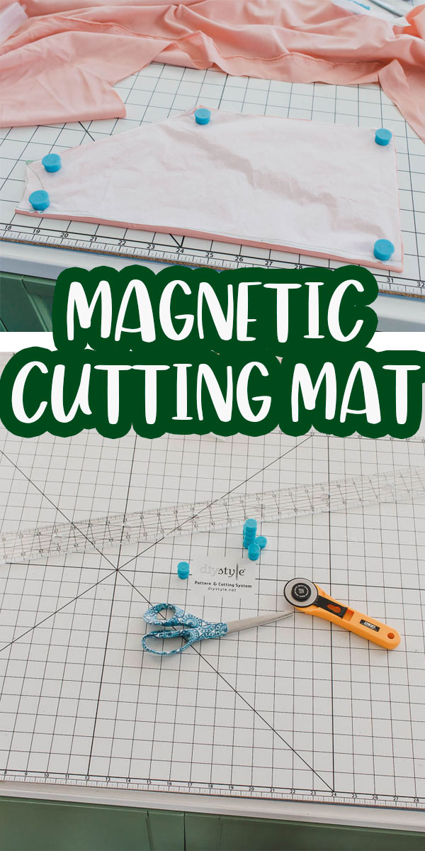 Check out this magnetic cutting mat for sewing and cutting fabric. Magnets hold the fabric in place while you cut. Cutting made simple with this magnetic cutting system.