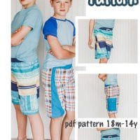 boys board shorts sewing pattern downloadable pdf