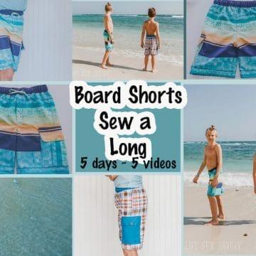 board shorts sew a long