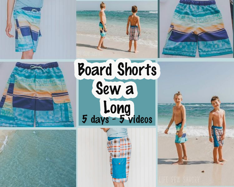 board shorts sew a long