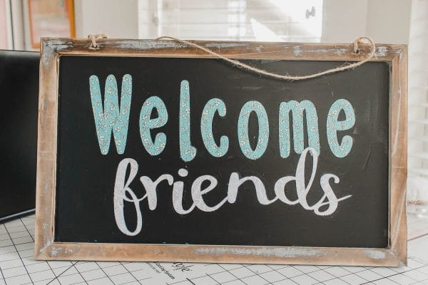 welcome friends free svg file