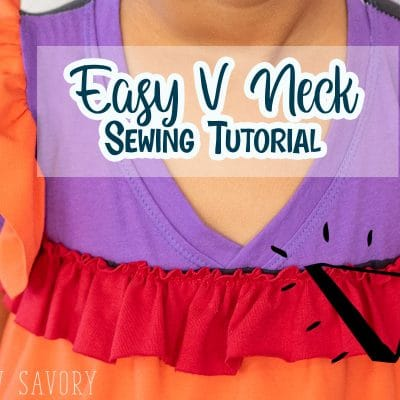 How to sew a V NECK shirt