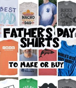 Fathers Day Shirts to make and buy