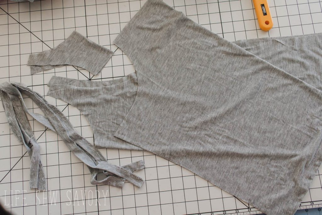 womens tank top sewing pattern pieces