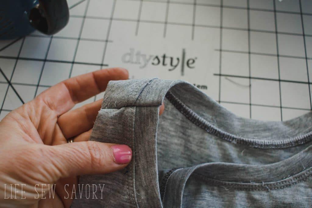 sew second shoulder seam