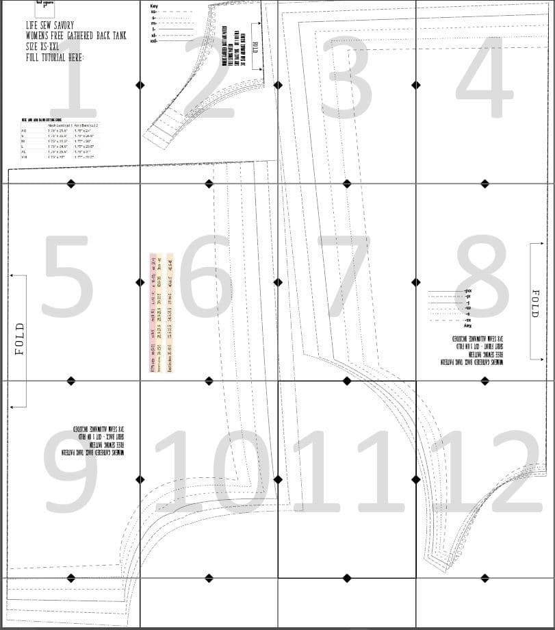 womens tank top layout guide