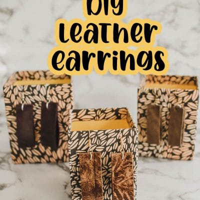 easy leather earrings to make