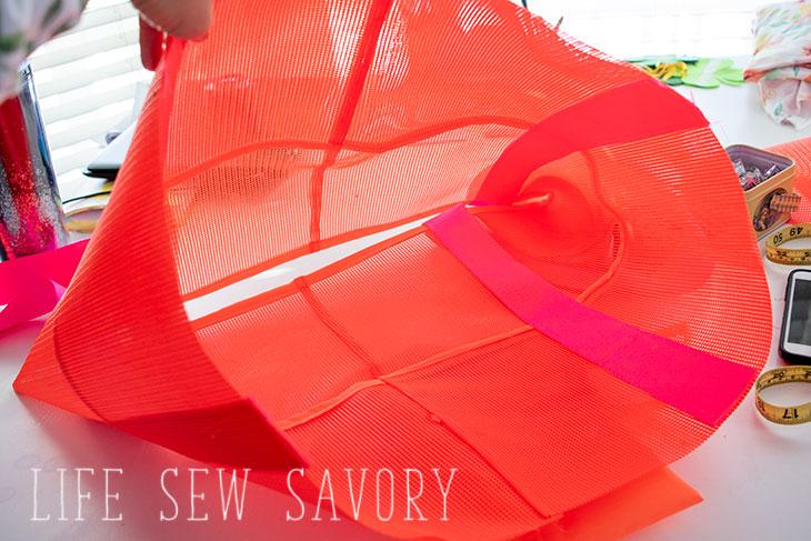 how to make a mesh tote bag
