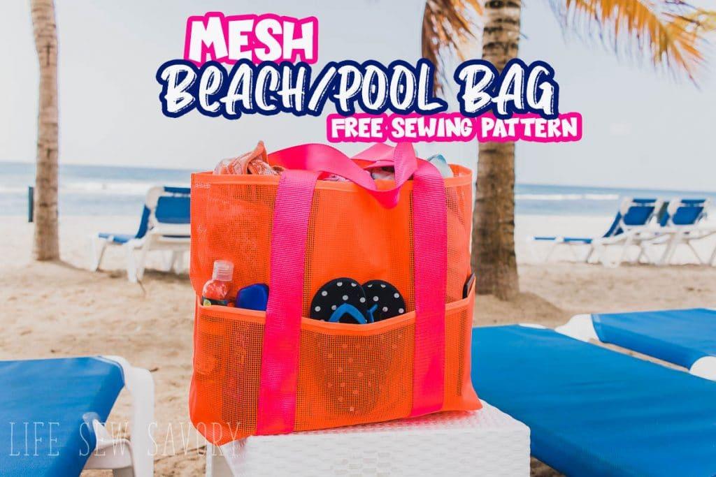 free mesh tote pattern